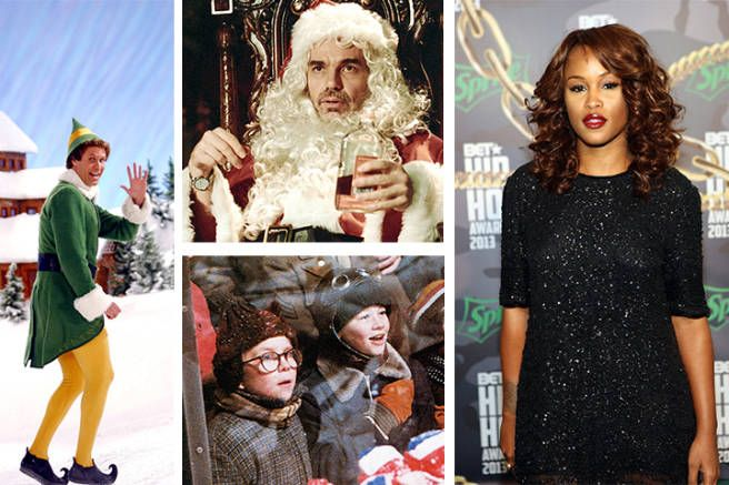 """tastemakers' favorite holiday movies: Eve, singer & actress (""""I have three. The old-school one for me is A Christmas Story. It's the best! And then Elf, and then Bad Santa."""")"""