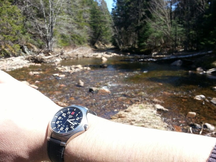 Swiss army basecamp on a hike to big rody falls in st martins nb