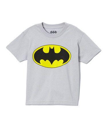 Gray Bat-Signal Tee - Boys #zulily #zulilyfinds