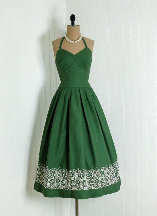 Green Evening Dress--super cute