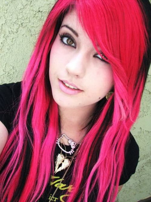 Emo Girl with Rainbow Hair | Emo Girls