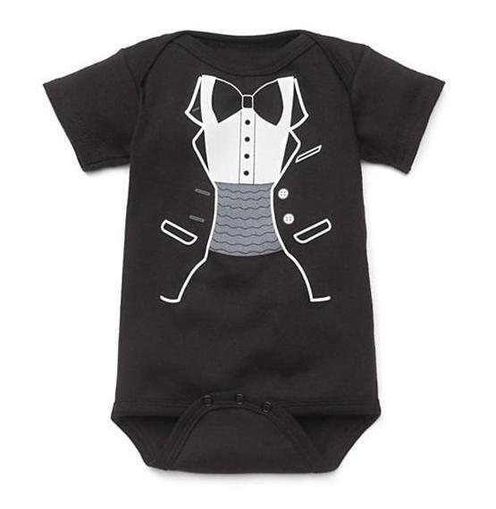 Детские Боди Черный Смокинг shortalls Джентльмен Детская Одежда тела bebe комбинезон детская одежда