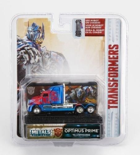 NEW 1:64 JADA TOYS COLLECTOR'S SERIES TRANSFORMERS - BLUE TRANSFORMERS 5 OPTIMUS PRIME WESTERN STAR 5700 XE PHANTOM Diecast Model Car By Jada Toys