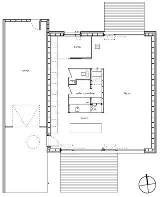 House Plan Villa B Tectoniques Architects