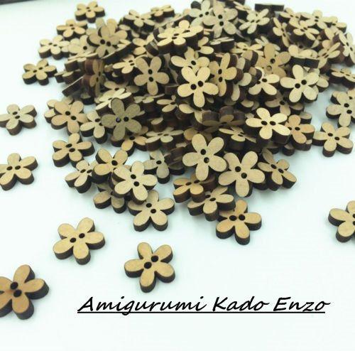 Bekijk dit items in mijn Etsy shop https://www.etsy.com/nl/listing/261960235/100-houten-bloemen-knopen