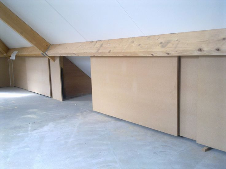 Sliding doors reveal attic storage space