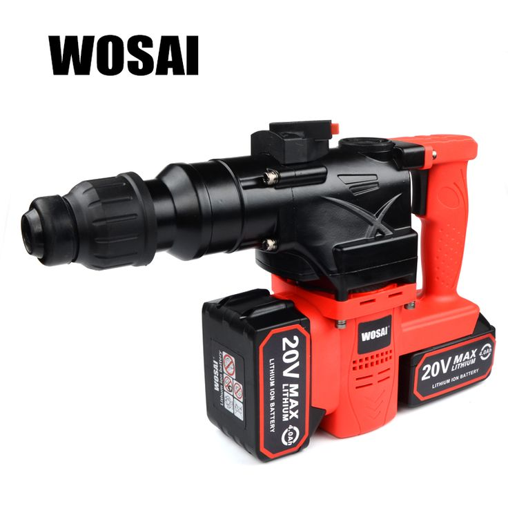 sale wosai 40v lithium battery rotary hammer heavy duty cordless impact drill power tool cordless hammer #power #hammer