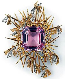 Morganite brooch - Tiffany