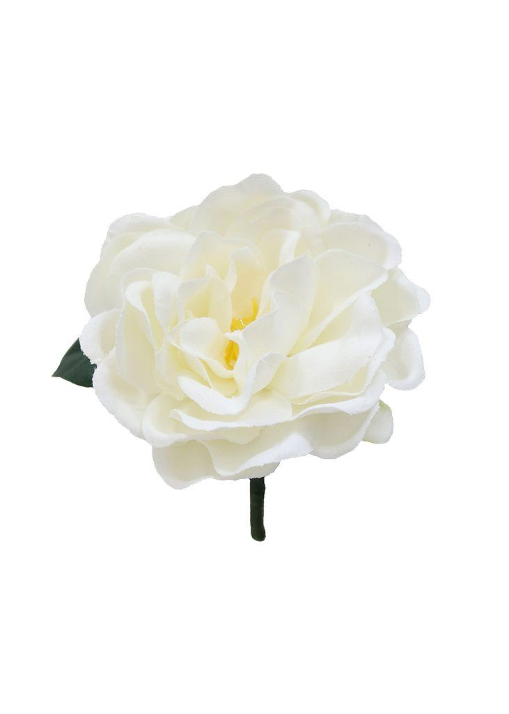 """Pack of 4 - White Gardenia Boutonniere - 4"""" Bloom"""