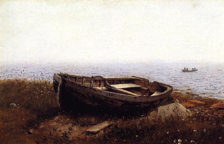 Frederic Edwin Church  -  The Old Boat   (aka The Abandoned Skiff)