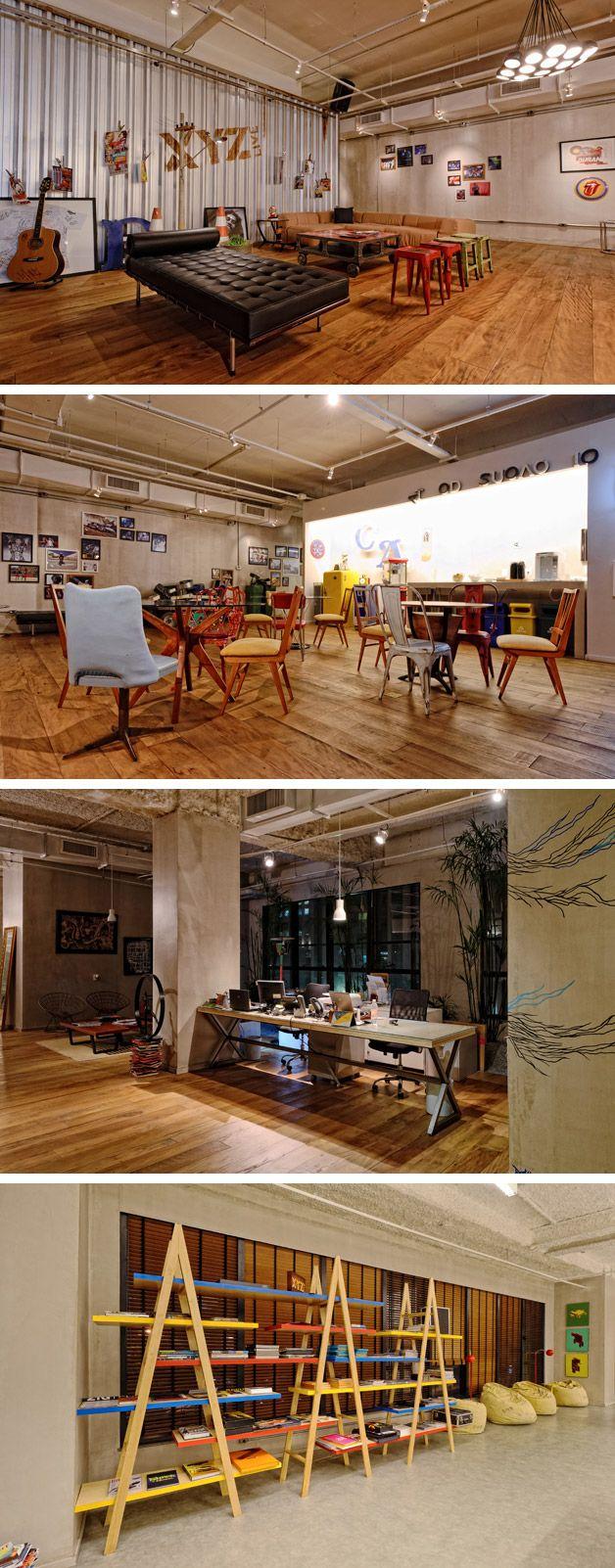 O escritório da empresa de conteúdo, entretenimento e esportes XYZ Live fica no famoso Edifício Dacon e temambientes como estúdio, pista com DJ, sala com grama sintética, que remetem aos pilares de atuação da empresa.