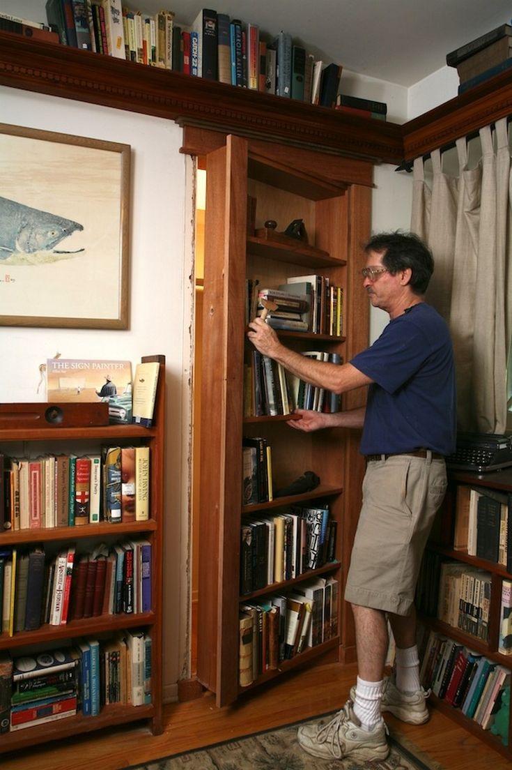 **DIY** Hidden Pivot Bookcase Installation Hidden Pivot Bookcase  Installation Many People Long For A Secret/hidden Bookcase Door.