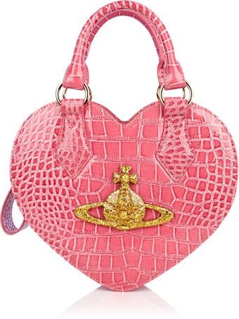 Vivienne Westwood - Rosa Chancery Heart Bag: Handbags Heart, Rosa Chanceri, Chanceri Heart, Pink Rosa, Westwood Heart, Westwood Rosa, Vivienne Westwood, Heart Bags, Crosses Heart