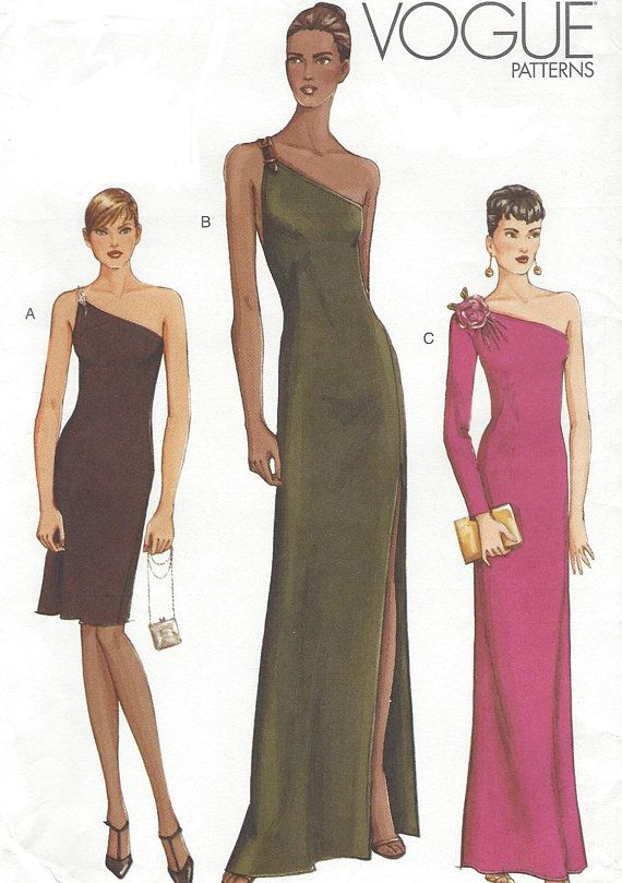 Womens One Shoulder Evening Gown Or Cocktail Dress With Variations