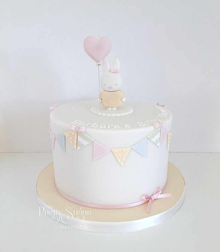 Pretty pastels Miffy themed baby shower cake