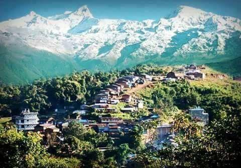 Gorkha village in nepal ..