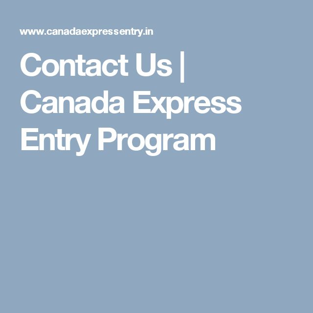 Contact Us | Canada Express Entry Program