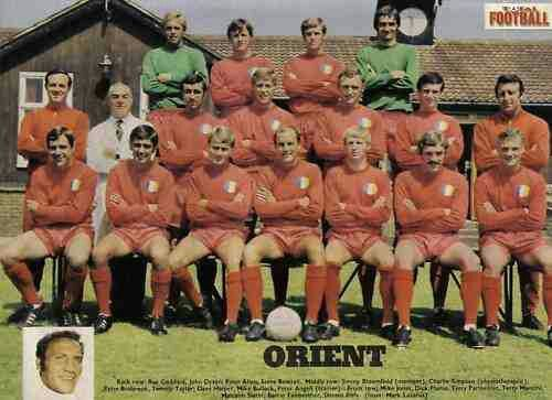 Leyton Orient team group in 1971-72.