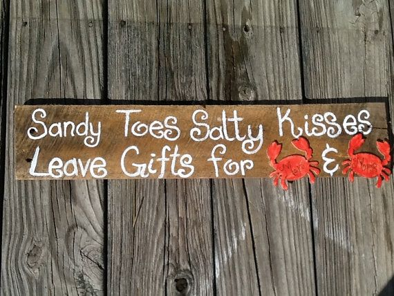 Beach wedding gifts sign beach wedding decor beach by PineNsign, $19.95