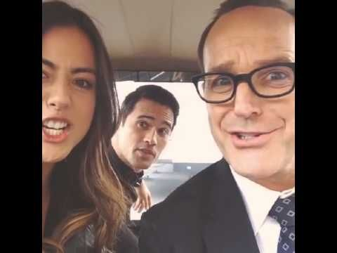 2014 2/4 Agents of S.H.I.E.L.D.-Clark Gregg, Brett Dalton and Chloe Bennet - -gosh I love this cast so much!!