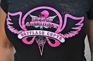 Women's Cut Hot Flash Chapter Biker T-Shirt Pink…we want our ladies to look great, too!