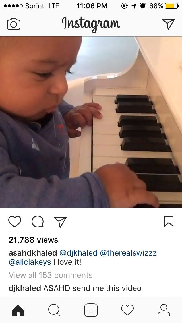 DJ Khalid told his 3 month old son to send him a video