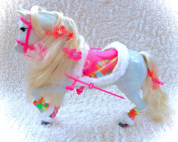 Vintage Ski Barbie Horse Complete Hair by CuteVintageToys on Etsy