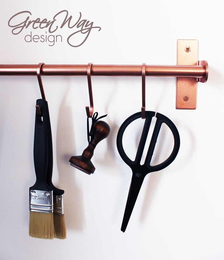 DIY workspace project with rosegold spray