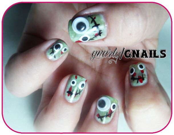Gnarly Gnails: Monkey See, Monkey Do Monday - Zombie Edition!!