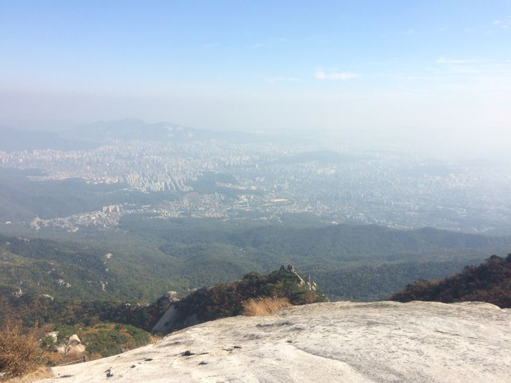백운대에서 바라본 서울.