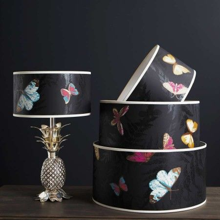 Farfalla Drum Lamp Shade graham and green £58