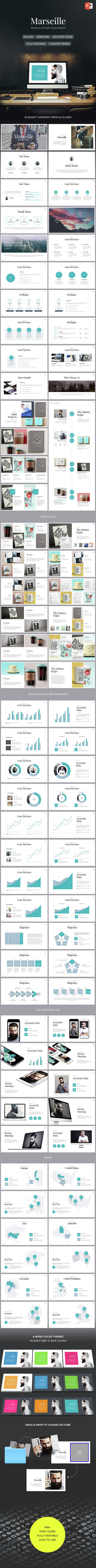 Marseille - Elegant Powerpoint Template. Download here: http://graphicriver.net/item/marseille-elegant-powerpoint-template/15153602?ref=ksioks