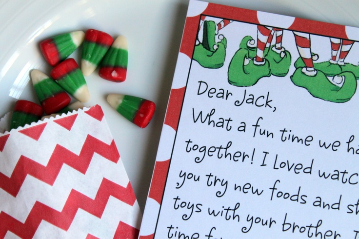 Elf on the shelf- printable letter template to create return & good bye letter