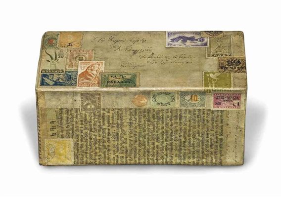 Artwork by Joseph Cornell, Untitled (Music Box), Made of printed paper collage