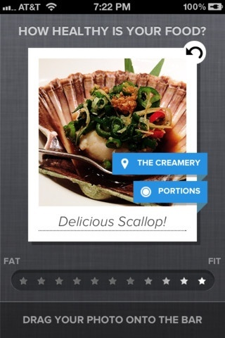 Foodspotting (iOS, FREE) People take photos of food with their mobile phones all the time. But to what end other than to gain cred on Foodspotting or brag about your gourmet meal on Instagram and Twitter? The Eatery is a different type of photo app. It is about you, and taking photos to make yourself aware of what you are eating so that you can change your behavior and eat healthier foods.