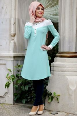 Gamze Polat Mint Elit Tunik
