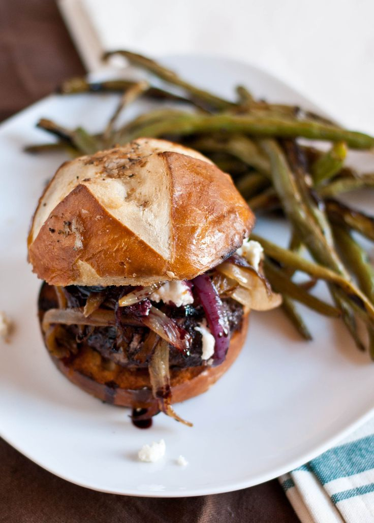 Red Wine Burgers with Caramelized Onions and Goat Cheese ...