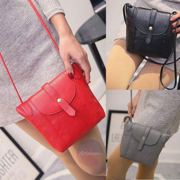 Artsivaris Women Leather Small Messenger Bag Travel Clutch Casual Handbag Purse | eBay