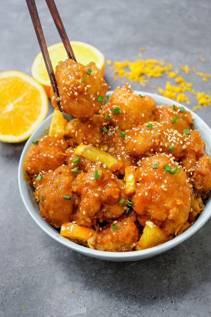 Glazed Orange Cauliflower Chicken Recipe Vegan In 2019