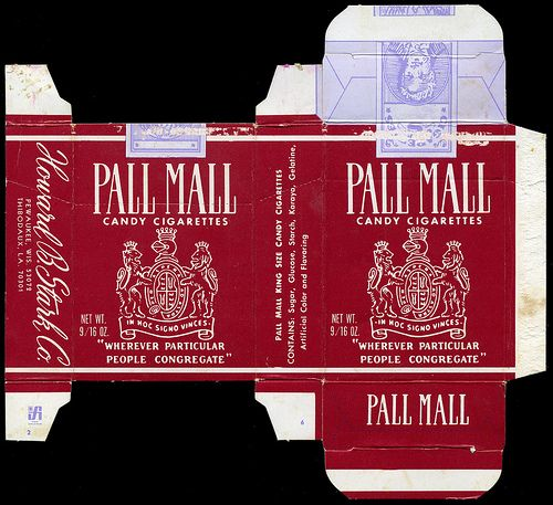 Stark - Pall Mall Candy Cigarettes box - 1970's by JasonLiebig, via Flickr