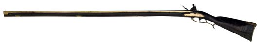 Early brass barrel Kentucky rifle dated 1771, attributed to Hans Jacob Honaker, Frederick County, Va. Estimate: $275,000-$350,000. Image courtesy Cowan's Auctions Inc.