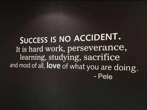 You can't succeed if you're not willing to work at it.  It's as simple as that.