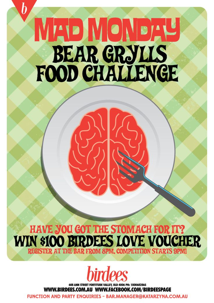 MAD MONDAY BEAR GRYLLS FOOD CHALLENGE | EVERY MONDAY #birdees #brisbane #foodchallege #brave