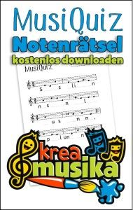 MusiQuiz: Notenrätsel zum Herunterladen und kostenlosen (!) Kopieren. Für Musiklehrer im schulischen und/oder privaten Musikunterricht