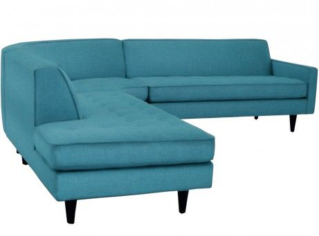 The Monroe 3pc Sectional CHOICE OF FABRICS. Love this sofa, but not really the vibe I'm going for.  I could change the feel.  The is more retro.