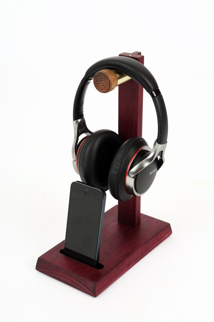 Purpleheart headphone stand