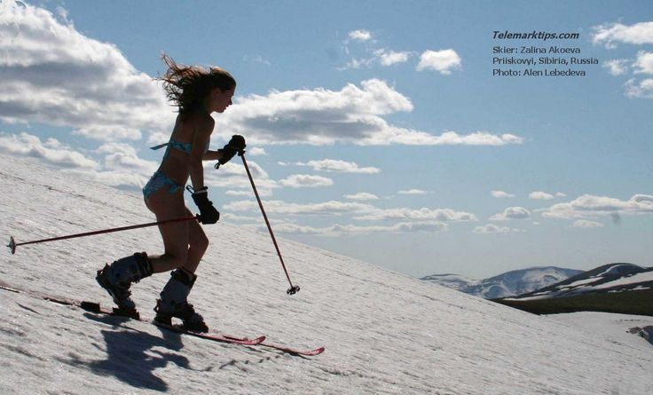 Maybe not ski in a bikini...cos that would be dumb, but get fit to tele!