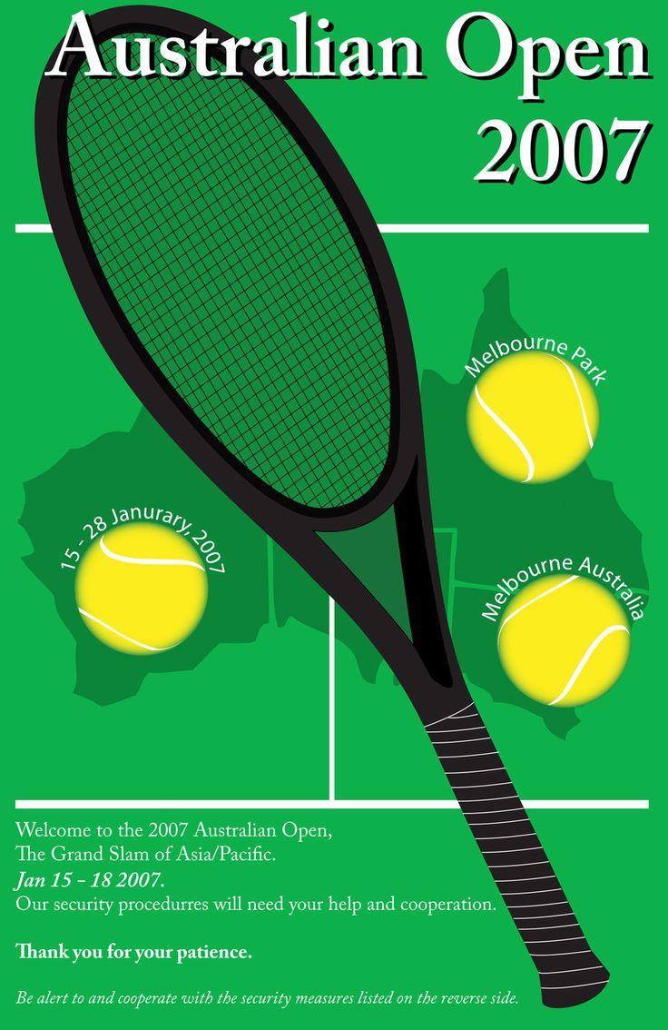 Australian Open Poster by Anteaterx
