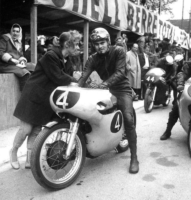 (4) Paddy Driver - Norton Manx - Grand Prix Motocycliste de Pau 1960 - 12ème Circuit de Vitesse de Pau