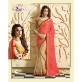 chiffon-saree-in-tomato-red-and-beige-with-golden-blouse-from-muhenera-1214